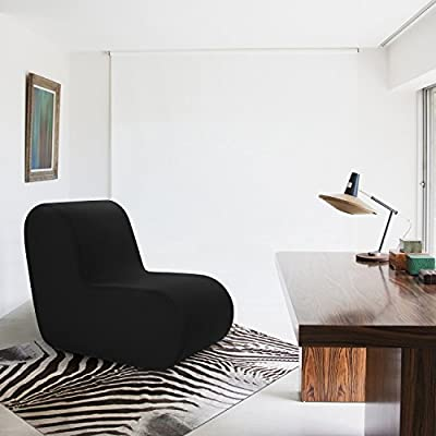 Vivon Comfort Foam, Modern Accent Furniture Chair For Dorm / Bedroom /  Family Room / Game Room / Cocoon, Black