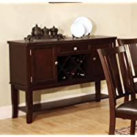 Furniture of America CM3336SV Edgewood I Espresso Server Dining Room Buffet