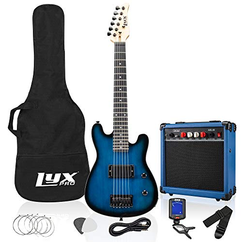 LyxPro 30 Inch Electric Guitar Starter Kit Bundle for Kids with 3/4 Size Beginner's Guitar