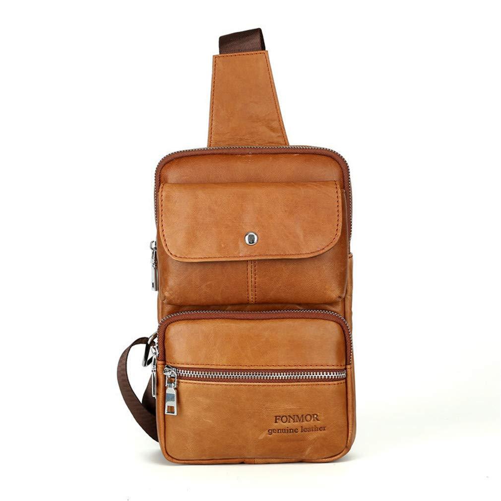 Amazon.com: Genuine Leather Mens Sling Bag Shoulder Bag Men ...