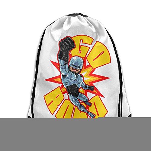 [Cool Drawstring Bag RoboCop Fiction Action Film Backpack] (Robocop Halloween Costume)