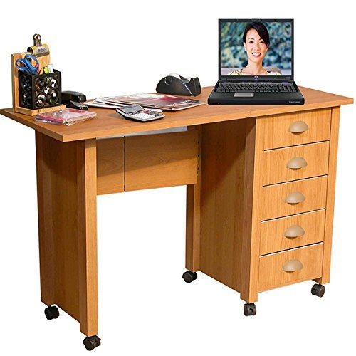 Venture Horizon Mobile Desk and Craft Center-Oak (Mobile Venture)