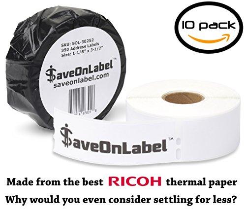 SaveOnLabel Dymo 30252 Compatible Address Labels, BPA Free,