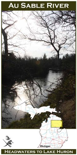Au Sable River (Michigan) 11x17 Fly Fishing Map