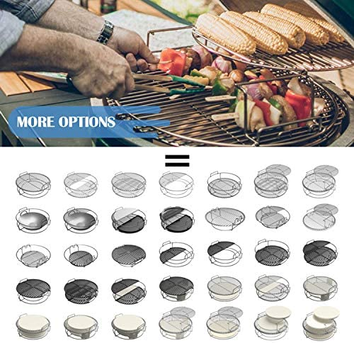 BigGreenEgg Grille à œufs pour barbecue Taille L