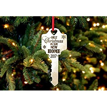 Personalized Christmas Ornament 1st Home Key