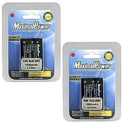 Maximalpower Db Kod K5001 X2 Kodak Klic-5001 Easyshare Dx6490 Dx7630 Z7590 Replacement Battery (Black)