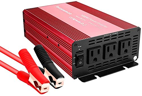 Buywhat 1000W Power Inverter 12V DC to 110V AC Car Converter 3 AC Outlets for Home RV