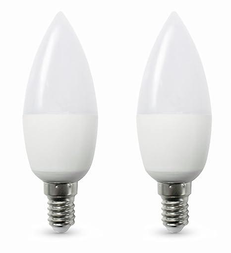 Bombilux - Bombilla LED vela E14 6 W equivalente a 40 W Incandescente, 470 lúmenes