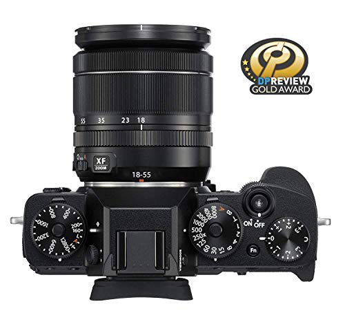 """Fujifilm X-T3 26.1 MP Mirrorless Camera with XF 18-55 mm Lens (APS-C X-Trans CMOS 4 Sensor, X-Processor 4, EVF, 3"""" Tilt Touchscreen, Fast & Accurate AF, Face/Eye AF, 4K/60P Video) - Black 3"""