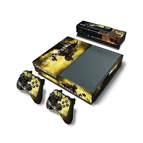 Microsoft Xbox One Skin Decal Sticker Set - Dark Soul's 3 (1 Console Sticker + 2 Controller Stickers + 1 Kinect Sticker)