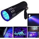 lampe torche UV a LED lumiere noire detecteur de faux billets led fausse monnaie
