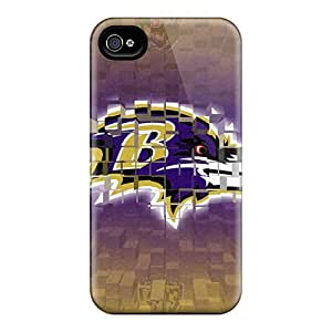 KellyLast Iphone 4/4s Great Hard Cell-phone Case Provide Private Custom Realistic Baltimore Ravens Series [ILJ7782wWhL]