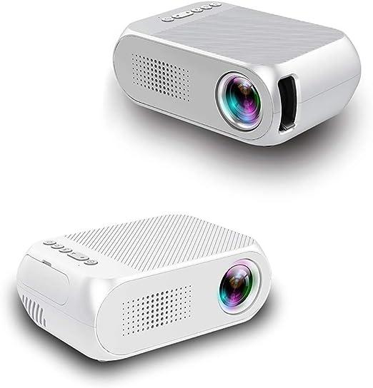 Fohee Proyector, Mini Proyector LED móvil, Proyector de Video de ...