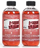 Hosley Aromatherapy Set of 2 Premium Red Velvet Cake Scent Reed Diffuser Refills Oil, 230 ml (7.75 fl oz) Made in USA. Bulk Buy. Ideal Gift for Wedding, Party, Spa, Aromatherapy, O4