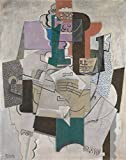 Oil Painting 'Pablo Picasso Fruit Dish Bottle And Violin ' Printing On High Quality Polyster Canvas , 20 X 25 Inch / 51 X 64 Cm ,the Best Wall Art Artwork And Home Artwork And Gifts Is This High Definition Art Decorative Canvas Prints