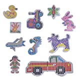 SuSenGo 10PCS Fuse Beads Pegboards Patterns for 5mm Perler Beads