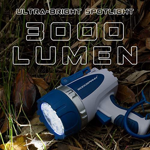 GOODSMANN Submersible Cree LED Spotlight Powerful 3000 Lumen (30Watt Waterproof and Floating LED Rechargeable Spotlight) 9924-H101-01 by GOODSMANN (Image #4)