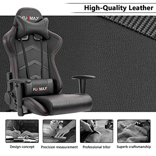 Furmax Gaming Chair Black No Footrest Gaming Chairs