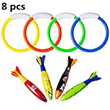 brifay Underwater Swimming/Diving Pool Toy Rings (4 pcs) - Best Reviews Guide
