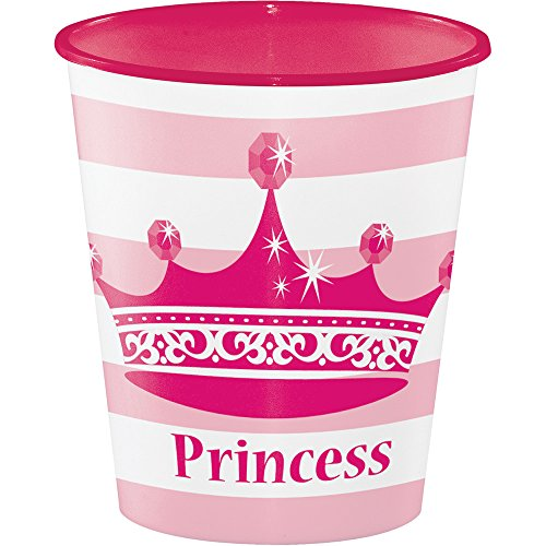 Creative Converting Plastic Cups, 12 oz, Pink Princess Royalty (12-Count)