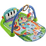 Fisher-Price Kick & Play Piano Gym, Blue/Green