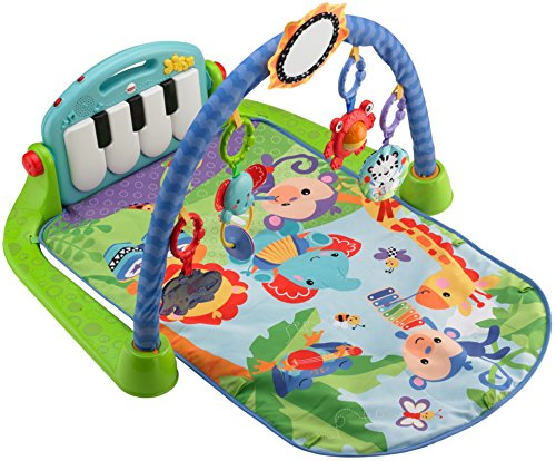 : Fisher-Price Kick & Play Piano Gym, Blue/Green