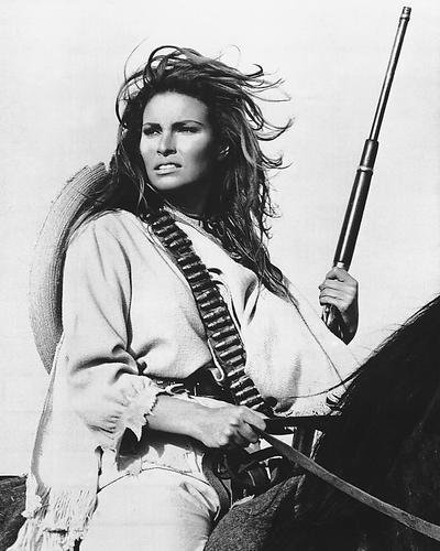 Raquel Welch 100 Rifles On Horseback 8x10 HD Aluminum Wall Art