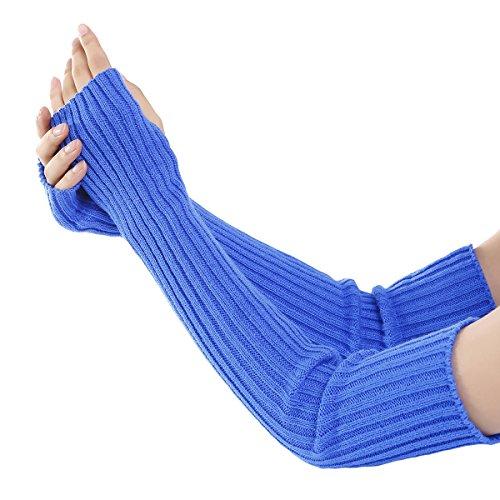 Punto de puro Guante Azul rayas para Mitt Invierno Acvip Caliente Color mujer wxU6tInqvv