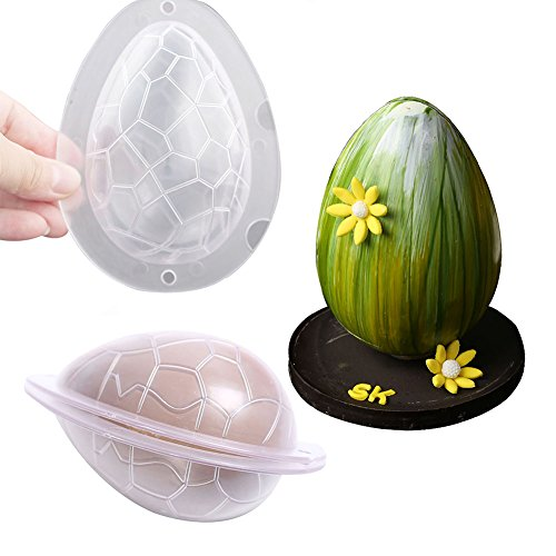 SK Egg Candy Mold Easter Chocolate Egg Mold Cake Decorating