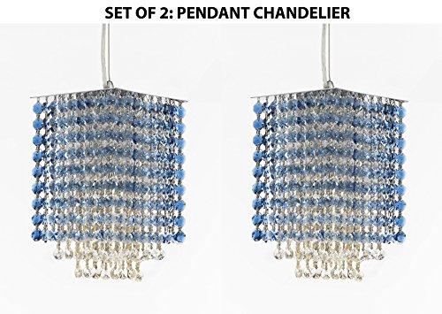 Set of 2 - Modern Contemporary Mini Pendant Chandelier Lighting Geometrics Quantum H 9