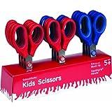 Schoolworks 5 Inch Blunt Kids Scissors, Classpack of 12 (153520-1004)
