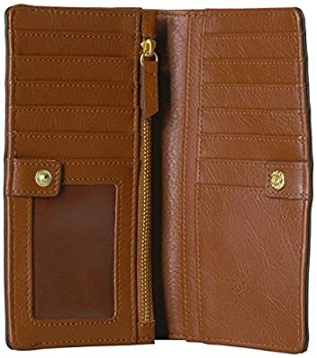 Fossil Caroline Rfid Slim Bifold Wallet Black Stripe Wallet