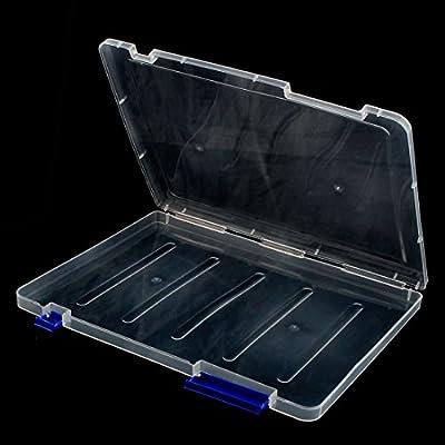 DealMux plástico hogar oficina A4 Arquivo papel do recibo do documento titular Caixa de armazenamento Caixa azul: Amazon.es: Hogar