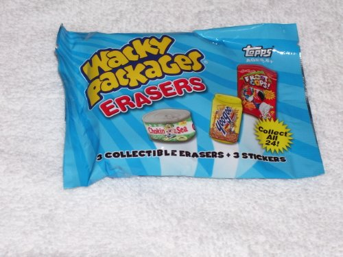 Topps Wacky Packages - Erasers Series 2 - Pack (3 Erasers & 3 Stickers) ()