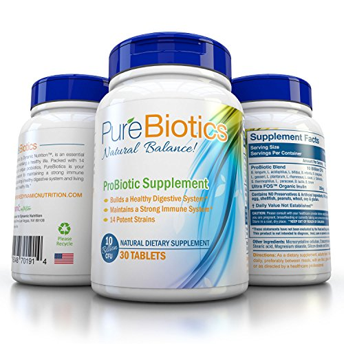 Pure Probiotics Supplement Pearl Sized Tablet Improve