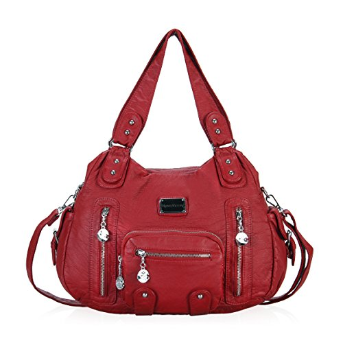 Red Handbags with Front Pockets: Amazon.com
