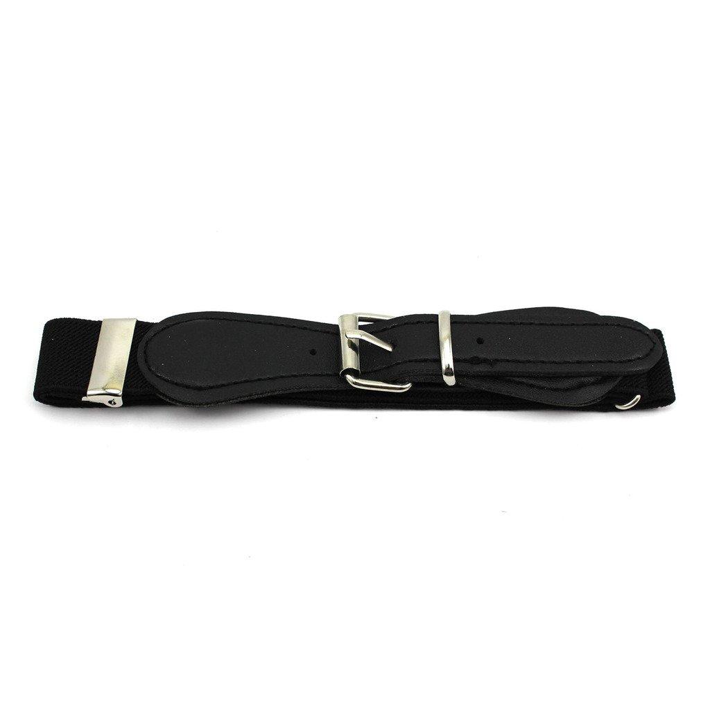 Gogogo Candy Color Adjustable Waistband Waist Belt Band for Kids Children(Black)