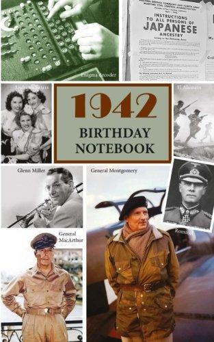 1942 Birthday Notebook: a great alternative to a birthday