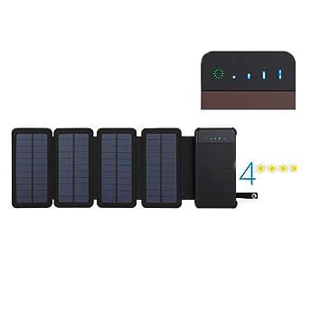 SSCJ Cargador Solar Banco de energía Solar portátil de 10000 ...