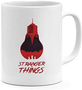 أشياء غريبة البند 11أوقية قدح القهوة رأسًا على عقب مصباح 11أوقية السيراميك الجدة القدح