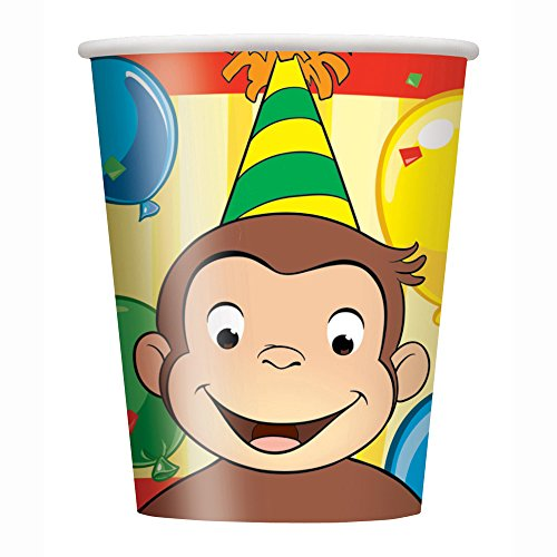 9oz Curious George Party Cups, 8ct (Punch Party Hat)