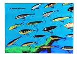 15'' School of Lures Tempered Rectangle Glass Cutting Board