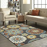 Better Homes and Gardens Suzani Area Rug or Runner, Gray, 5x7