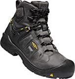 """KEEN Utility - Men's Dover 6"""" WP Carbon Fiber Toe Waterproof Work Boots for Construction, Landscaping, Maintenance, Transportation and Utilities, Magnet/Black, 9.5EE M US"""
