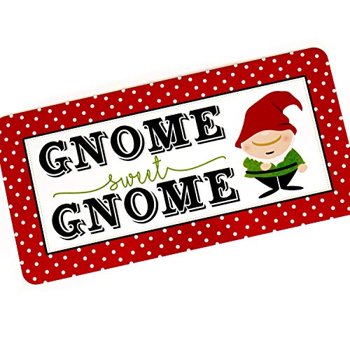 Dozili Cartel de GNOME Sweet GNOME - Señal de jardín para el ...