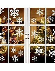 Naler 96 sneeuwvlokken raamafbeelding afneembare raamdecoratie statisch hechtende PVC sticker winter decoratie