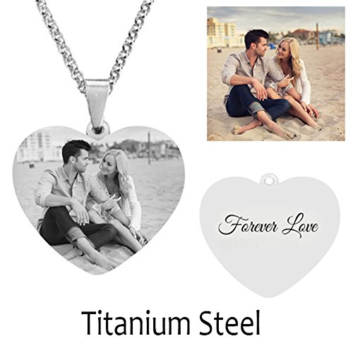Customize Titanium Stainless Steel Personalized Charm Pandent Necklace Christmas Birthday Gift (Titanium steel - Tiffany Online Co Shop