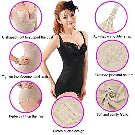 1fd1095491 Romacci Women s Body Briefer Shapewear Seamless Slimming Tummy Control  Bodyshaper Bodysuit at Amazon Women s Clothing store