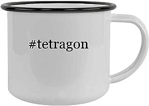 #tetragon - 12oz Hashtag Camping Mug Stainless Steel, Black